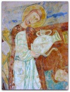 St Laurent baptisant le soldat Romain(absidiole Nord)