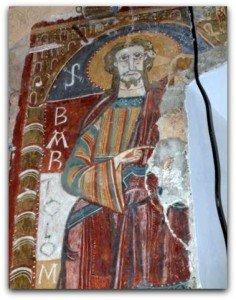 St Barthélémy à l'abside de Ourjout en Ariège
