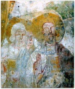 Le Christ suivi de deux apotres