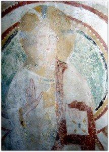 Christ à la voute de l'absidiole sud