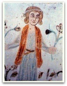 PRITZ,calendrier des mois,personnage cueillant des fleurs