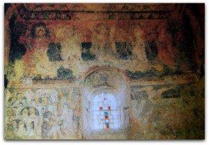 St Michel de part et d'autre de la fenètre avant restauration