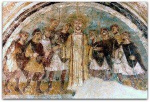 St Etienne parlant au milieu de la foule
