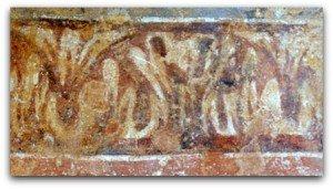 Frise de motifs végétaux carolingiens