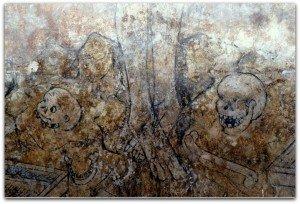 Peinture du XV ième au mur ouest de la nef