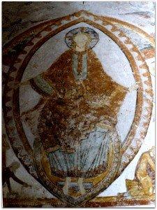 Christ en majesté à la voute de l'abside principale