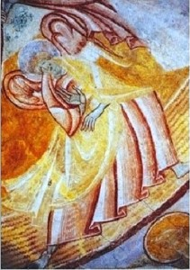 Ange entourant la mandorle du Christ à Douy