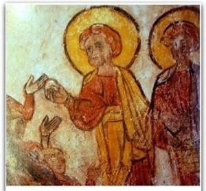 La multiplication des pains à la crypte de la cathédrale de Clermont Ferrand