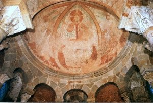 St Nicolas des Marchaux,fresques de la voute de l'abside