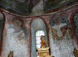 Peintures de l'abside à Saint Aventin