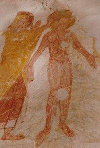 Le christ du baptéme nu à Genneteil
