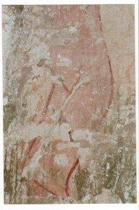Les vestiges d'un christ nu à Sallertaine (Vendée)