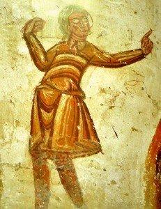 Danseur à la crypte de Tavant