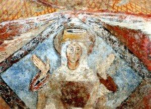 Gloire losangique enserrant la vierge de St Martin de Fenollar(XIIiéme)