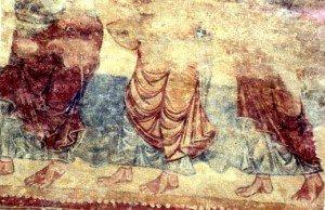 Groupe de personnages non identifiés à Gourdon (Fin du XIIiéme siécle)