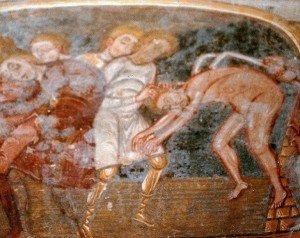 Le martyre de St Cyprien à la crypte de St Savin