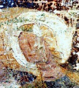 Visage de l'un des saint personnages composant la scéne de l'entrée du Christ a Jérusalem