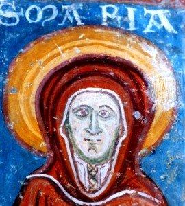 rouge aux habits de la vierge a St Emilion(fin d'époque romane)