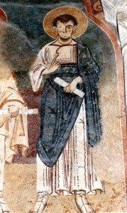 St Paul aux fresques de l'ancienne cathédrale de St Lizier (Début du XII iéme siécle)