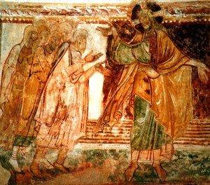 St Savin,Dieu Noé et sa famille (Milieu du XIIiéme siécle)