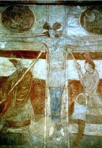 Crucifixion a St Pierre les églises prés de Chauvigny dans le Poitou