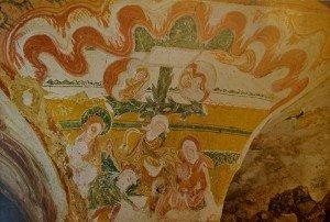 superbe descente de croix à la crypte de Tavant (Indre et Loire)