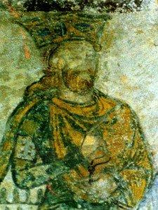 Thierry premier,fils de Clovis,doigt indiquant la direction et la volonté de fuite?