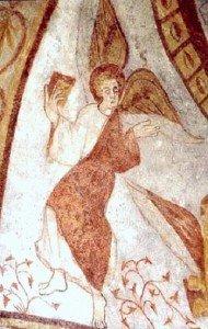 L'ange de St Mathieu en haut à gauche,tenant le livre