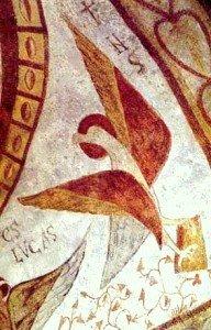 L'aigle de St Jean ,en haut à droite,affublé d'un curieux bec qui le fait ressembler à un vautour