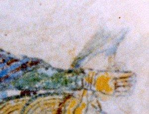 Main au faucon du quariéme cavalier