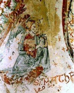 Belle image de l'ange de St Mathieu (fin du XII iéme siécle)