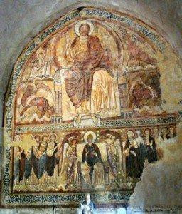 fresque au réfectoire des moines de Lavaudieu