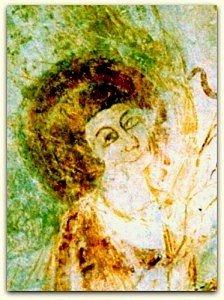 Détail d'un ange à la voute de l'abside
