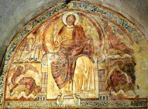Christ en gloire et tetramorphe