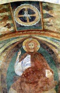 Détail du Christ en gloire dans sa mandorle