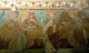 Le Christ entouré de deux anges