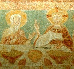 Le Christ et la Vierge aux Noces de Cana (Détail)