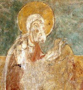Joseph tenant 2 colombes (Détail de la Présentation au Temple)