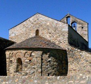 Chvet et clocher mur de l'église St Romain de Caldégas