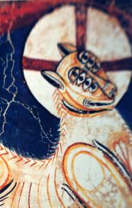 L'Agneau de l'Apocalypse aux 7 yeux de San Climent de Taull