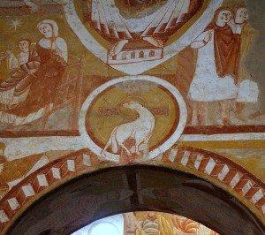 L'Agneau à Vic sous la mandorle du Christ