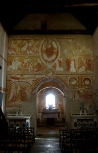 Ensemble des peintures du mur diaphragme séparant la nef et le choeur