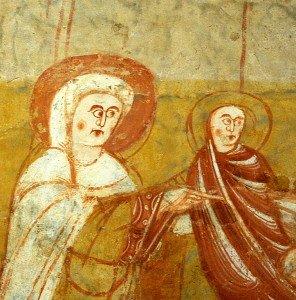 Marie et l'enfant (détail de la scène de la Présentation au temple)