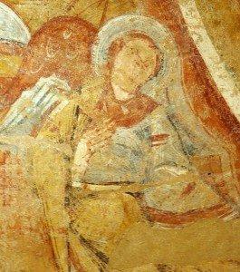 Ange soutenant la mandorle du Christ de l'abside