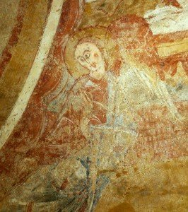 Deuxième ange soutenant la mandorle du Christ de l'abside