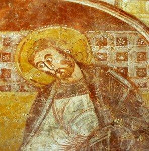 Le Christ lavant les pieds de St Pierre (détail)