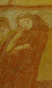 Moine de Tours endormi (détail de l'enlévement du corps de St Martin)