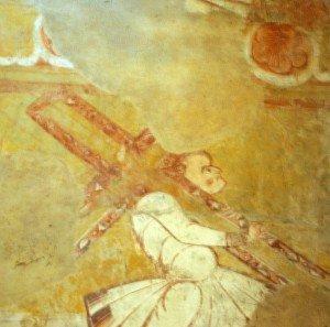 Simon de Cyrène portant la croix