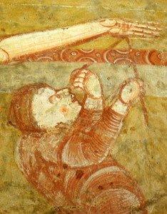 Nicoméde déclouant le christ de sa croix (détail de la descente de croix)