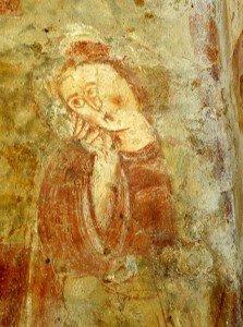 Marie éplorée au pied de la croix (détail de la descente de croix)